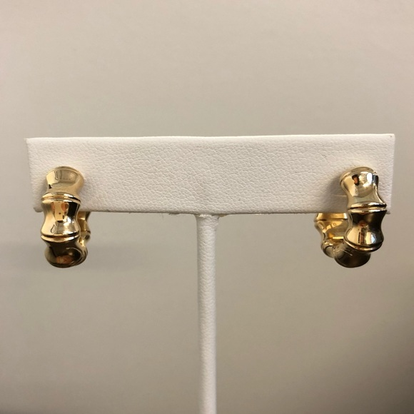 b1f11c1d5 Gucci Jewelry | 18k Gold Bamboo Hoop Earrings | Poshmark